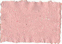 pink recycled paper with red and silver glitter